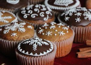 Celozrnné perníkové muffiny s povidly
